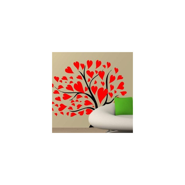 Wall stickers tree, leaves, hearts. Love tree