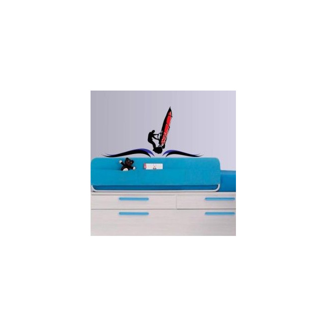 Wall stickers windsurfing