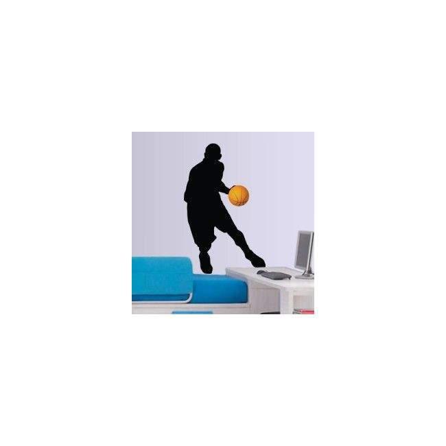 Αυτοκόλλητο τοίχου Μπασκετμπολίστας