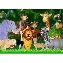 Wallpaper Happy jungle party