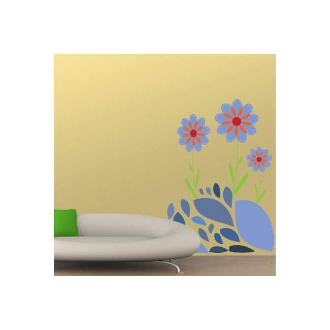 Αυτοκόλλητα τοίχου Μωβ Λουλούδια