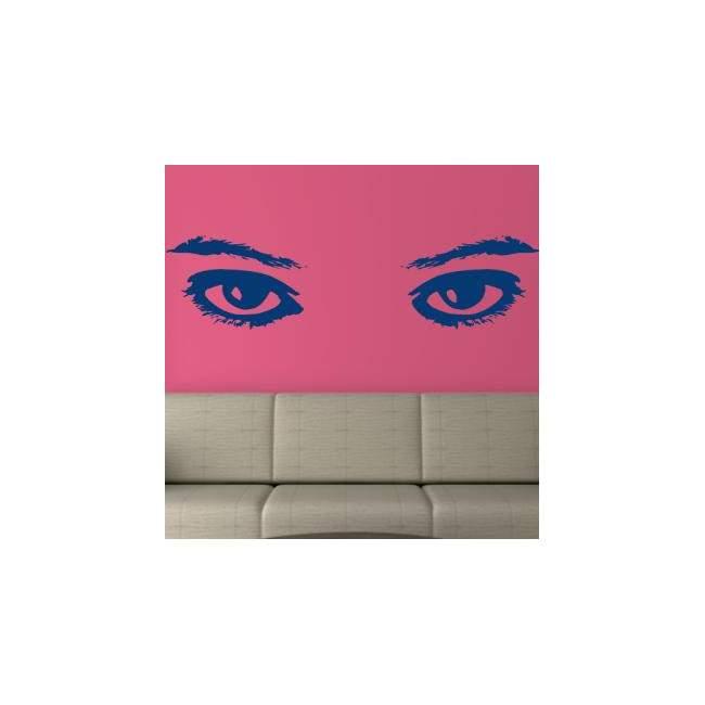 Αυτοκόλλητο τοίχου Γυναικεία Μάτια