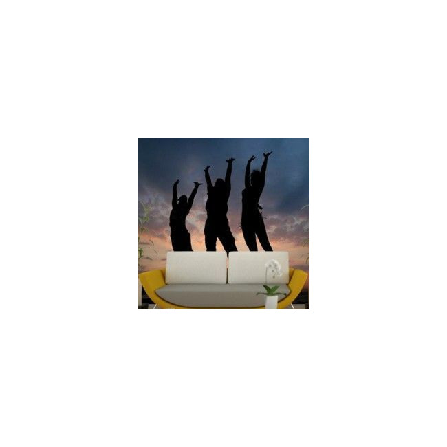 Ταπετσαρία τοίχου Τρεις άνθρωποι στο ηλιοβασίλεμα