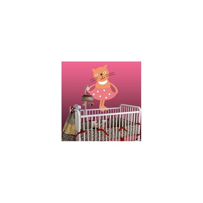 Αυτοκόλλητα τοίχου παιδικά Γατούλα
