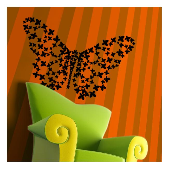 Αυτοκόλλητο τοίχου πεταλούδες, Les Papillons