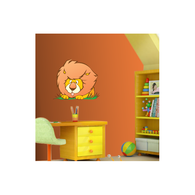 Kids wall stickers Funny Lion