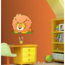 Αυτοκόλλητα τοίχου παιδικά Αστείο Λιοντάρι