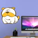 Αυτοκόλλητα τοίχου παιδικά Αστείος Σκύλος