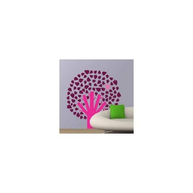 Αυτοκόλλητο τοίχου Δέντρο με καρδιά