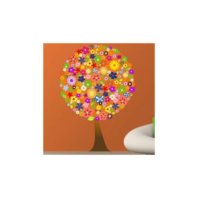 Αυτοκόλλητα τοίχου Δέντρο  από λουλούδια