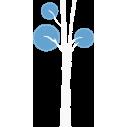 Design tree ,  λευκό - γαλάζιο, αυτοκόλλητο τοίχου, κοντινό