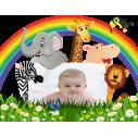Παρέα στη ζούγκλα με χώρο για παιδική φωτογραφία , αυτοκόλλητα τοίχου, κοντινό