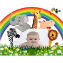 Kids wall stickers Jungle party with space for children's photo