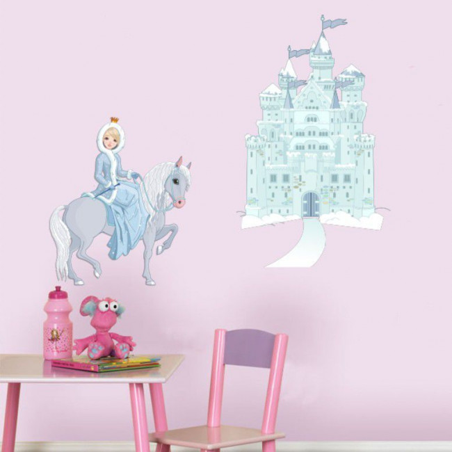 Wall stickers Princess horse and castle