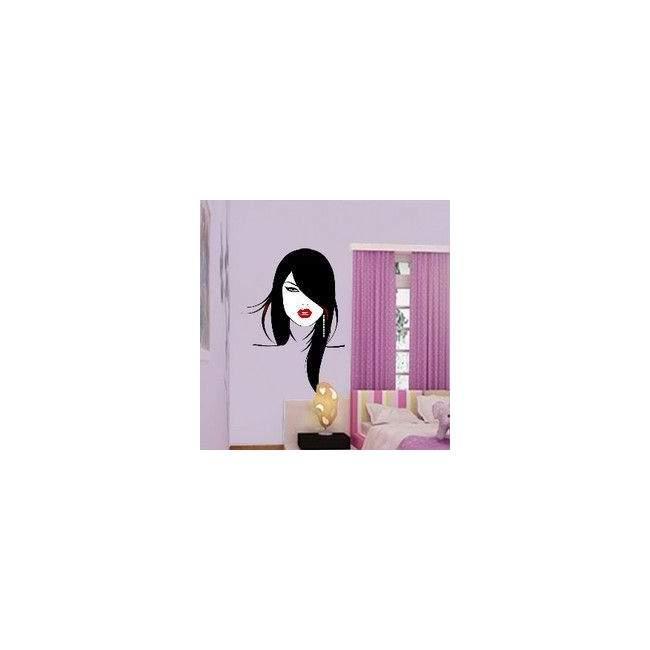 Αυτοκόλλητο τοίχου Γυναικείο πρόσωπο