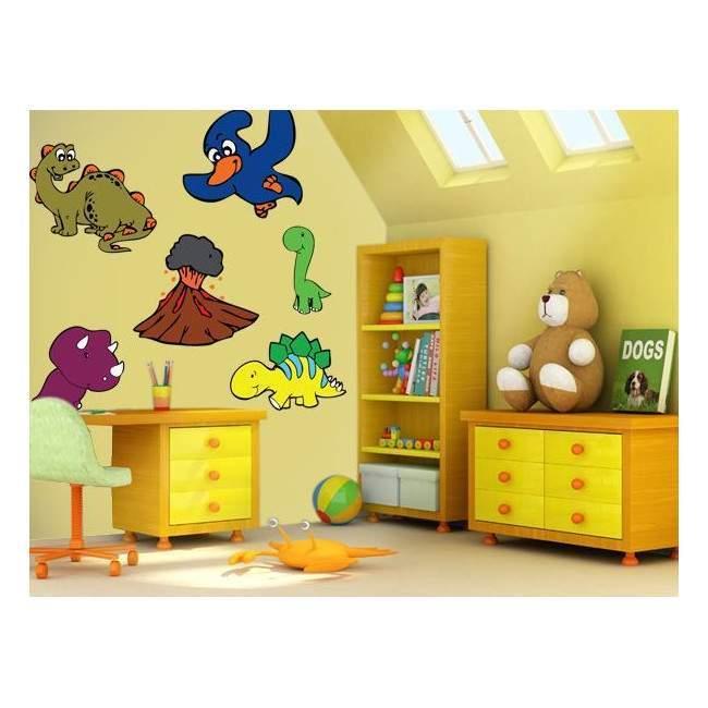 Αυτοκόλλητα τοίχου παιδικά Μικροί Δεινόσαυροι, Μεγάλη συλλογή