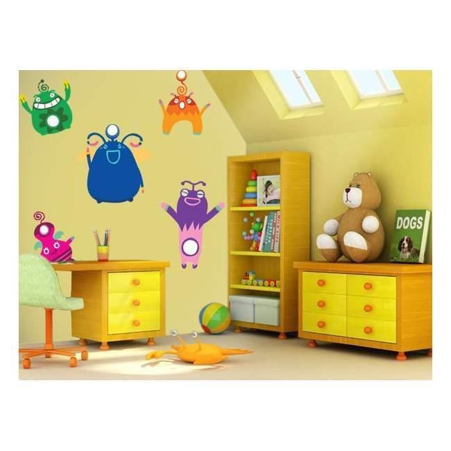Αυτοκόλλητα τοίχου παιδικά Mini συλλογή, Μικρά Τέρατα