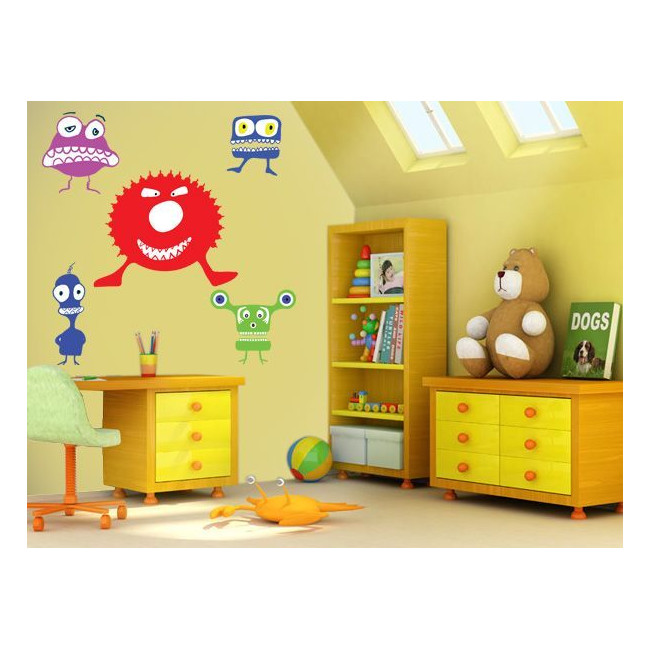 Kids wall stickers Mini collection, Little Monsters 1