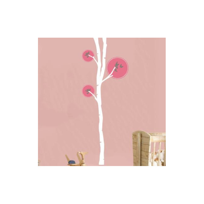Wall stickers tree and butterflies, Butterflies tree 2, white