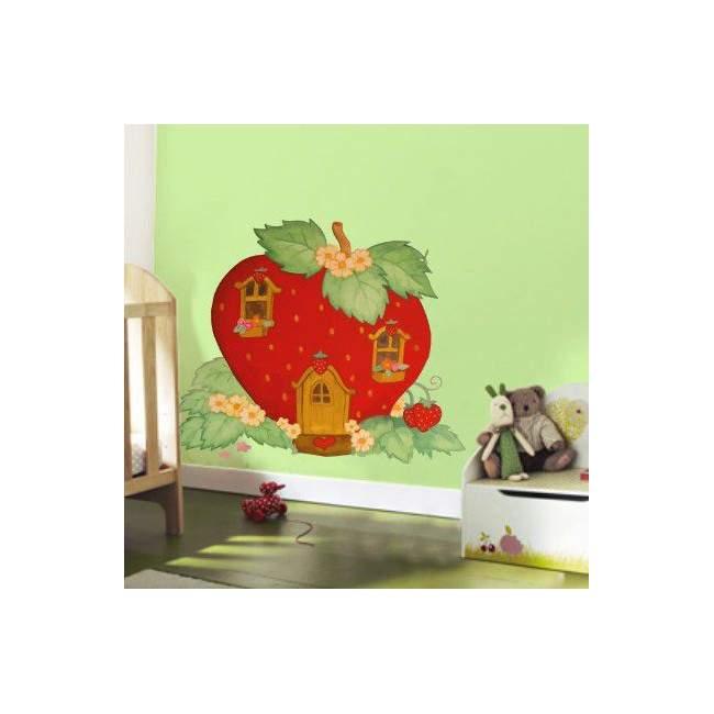 Αυτοκόλλητα τοίχου παιδικά Φραουλόσπιτο