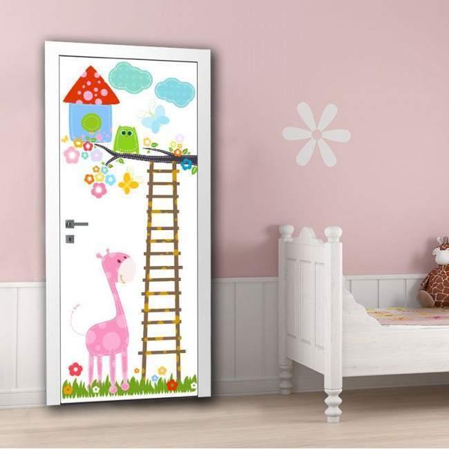 Χαρούμενη κουκουβάγια και οι φίλοι της αυτοκόλλητο πόρτας, ντουλάπας