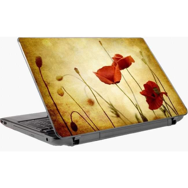 Παπαρούνες vintage αυτοκόλλητο laptop