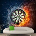Wallpaper Darts, fire and water
