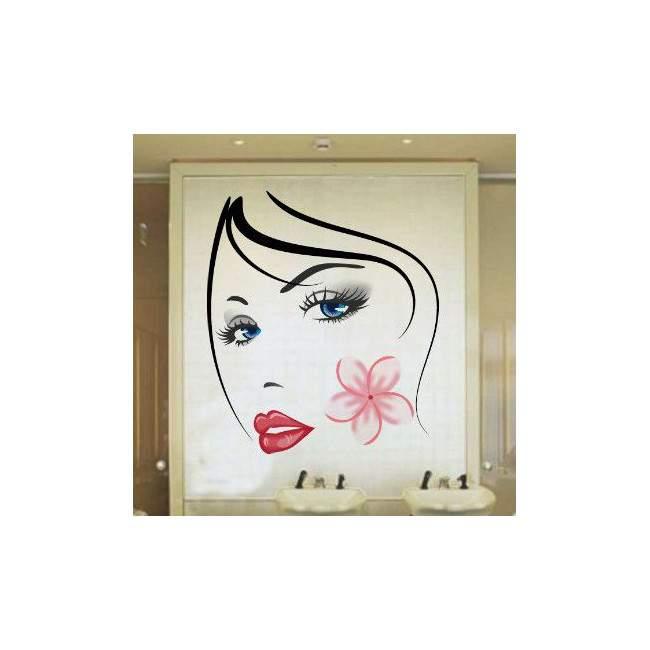 Αυτοκόλλητο τοίχου Όμορφο γυναικείο πρόσωπο, Beauty