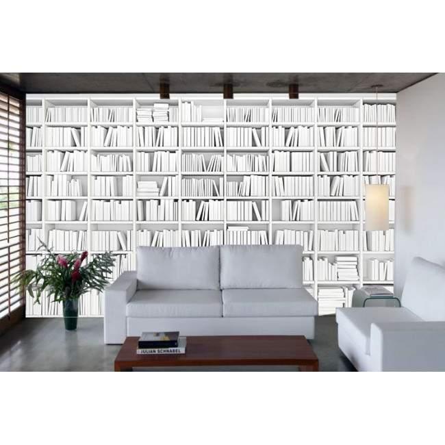 Ταπετσαρία τοίχου Λευκή βιβλιοθήκη II