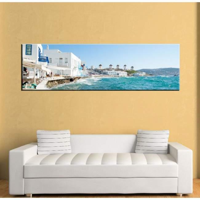 Πίνακας σε καμβά Mykonos view, πανοραμικός
