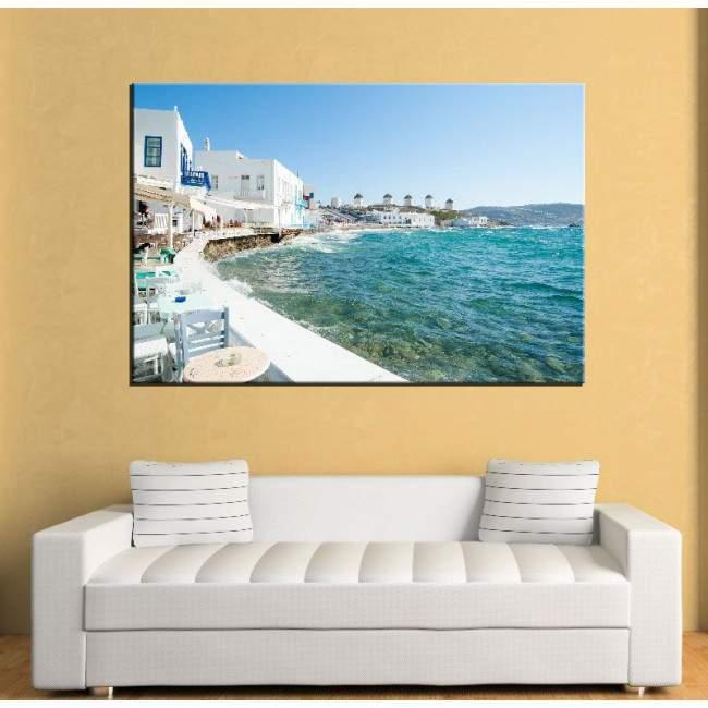 Canvas print Mykonos view