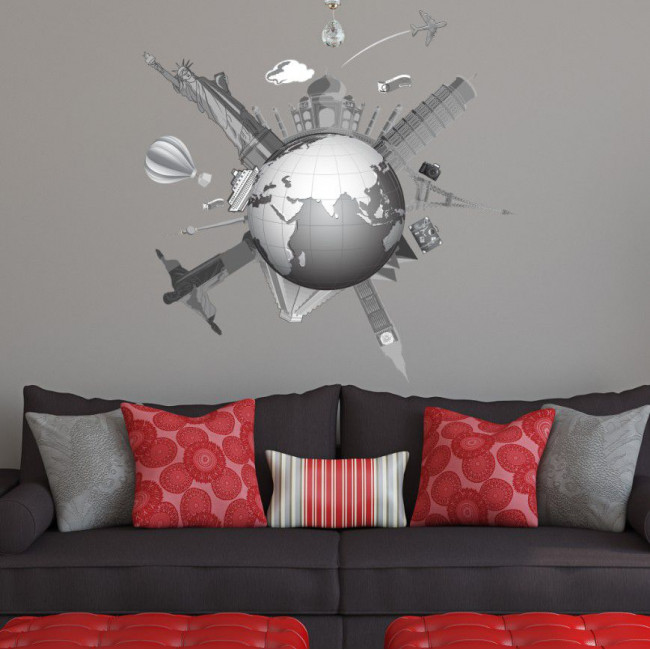 Wall stickers World famous monuments