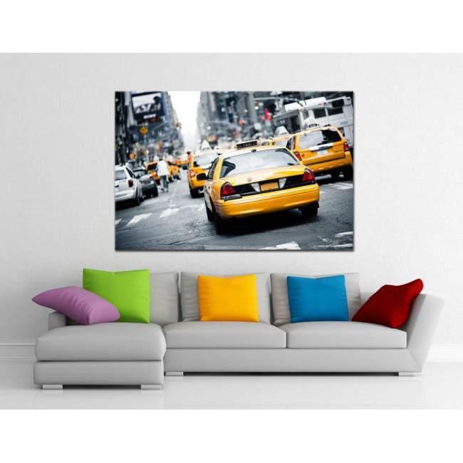 Canvas printNew York, New York cab