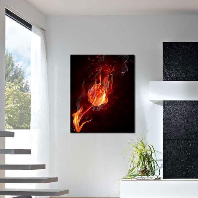 Canvas print Flaming tulip, vertical