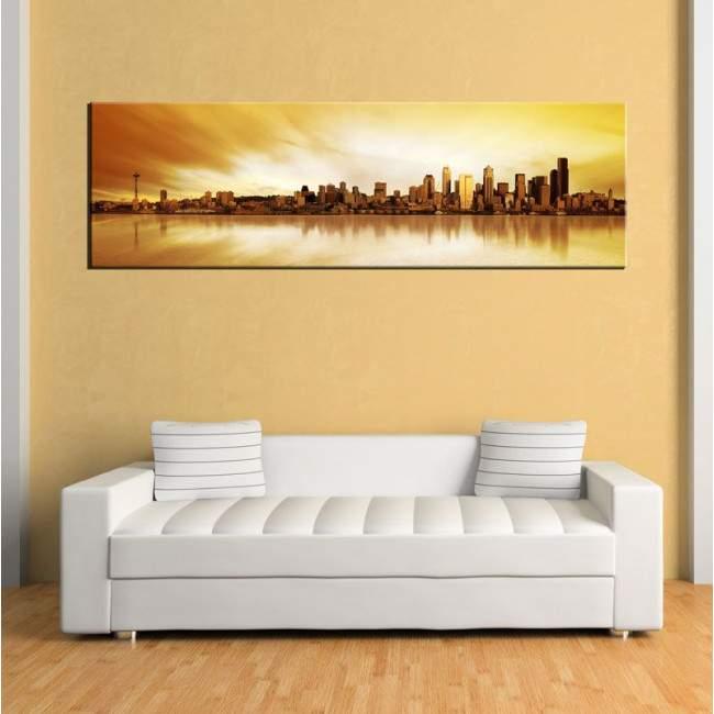 Πίνακας σε καμβά Seattle panorama, πανοραμικός