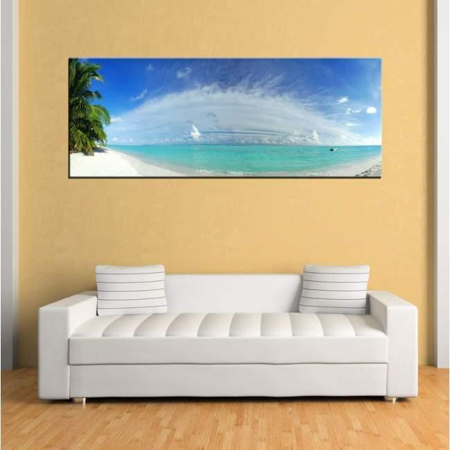 Πίνακας σε καμβά Tropical paradise, πανοραμικός
