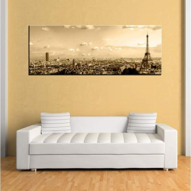 Canvas print Paris skyine, panoramic