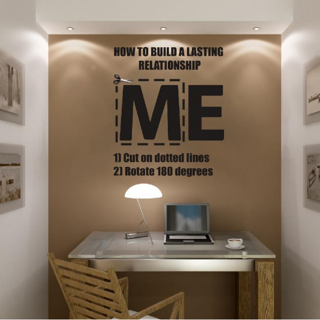 Wall stickers phrases. ME .. WE