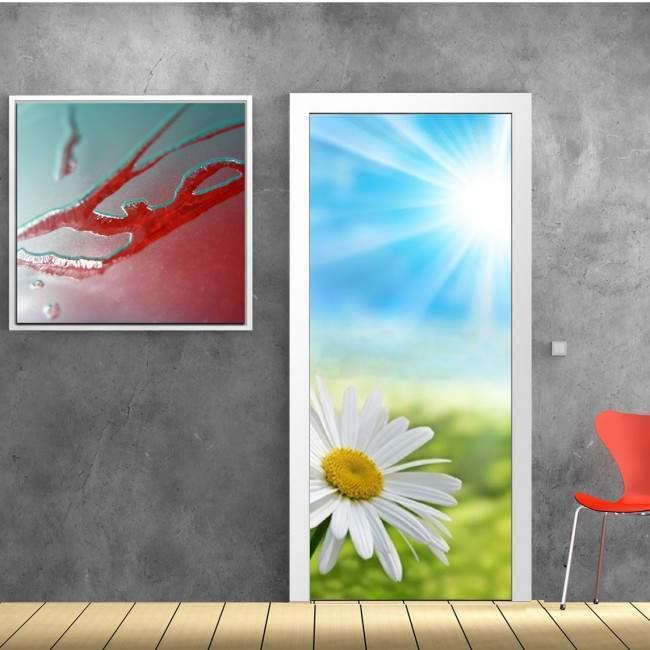 Αυτοκόλλητο πόρτας Μαργαρίτα στον ήλιο