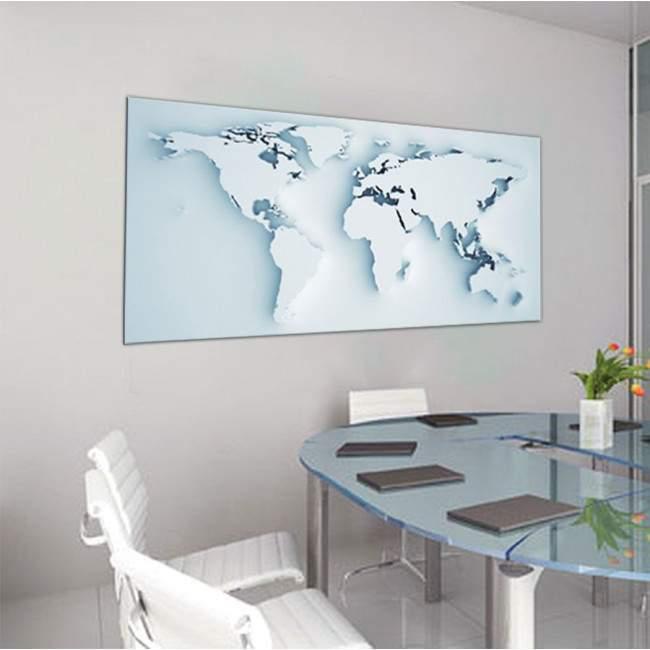 Πίνακας σε καμβά Παγκόσμιος χάρτης 3d, πανοραμικός