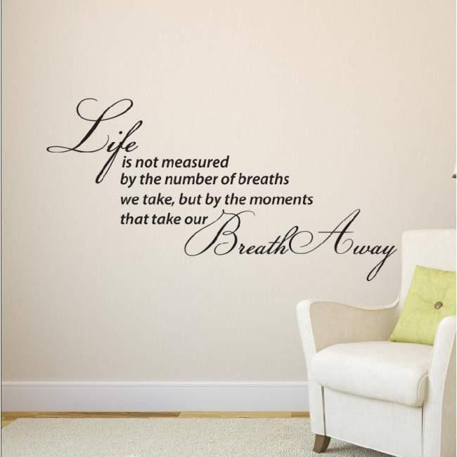 Αυτοκόλλητο τοίχου φράσεις. Moments in life...