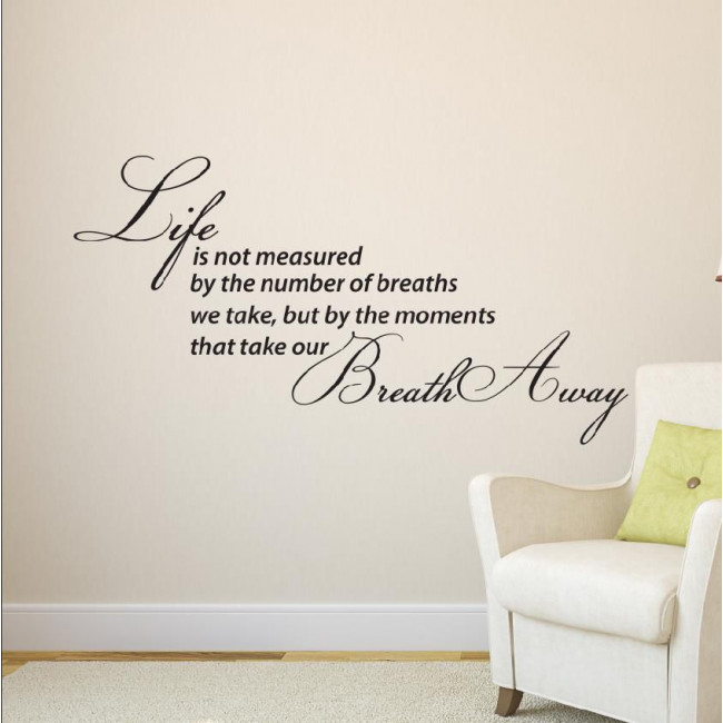 Wall stickers phrases. Moments in life...