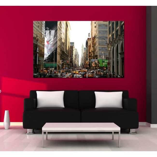 Canvas print New York city life