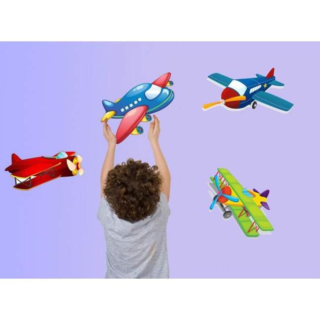 Αυτοκόλλητα τοίχου παιδικά Αεροπλανάκια