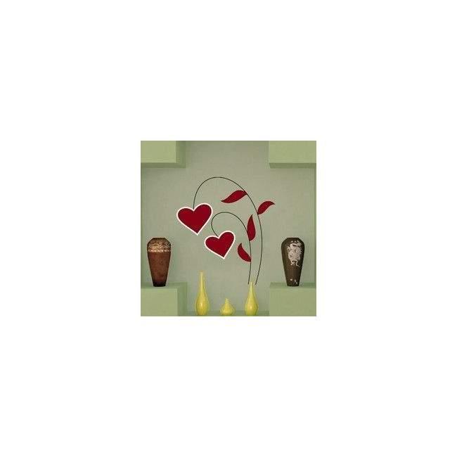 Αυτοκόλλητα τοίχου Λουλούδι απο καρδιές