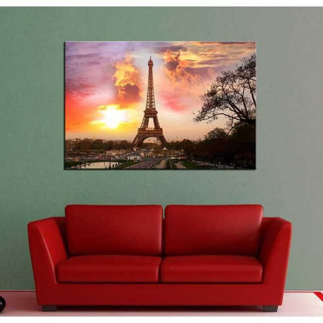Πίνακας σε καμβά Παρίσι ηλιοβασίλεμα, Paris sunset