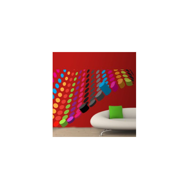 Wall stickers Circles, Multicolored Corner