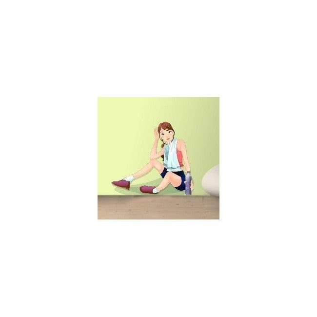 Αυτοκόλλητο τοίχου Κορίτσι που ξεκουράζεται