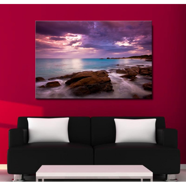 Canvas print Rocky coast