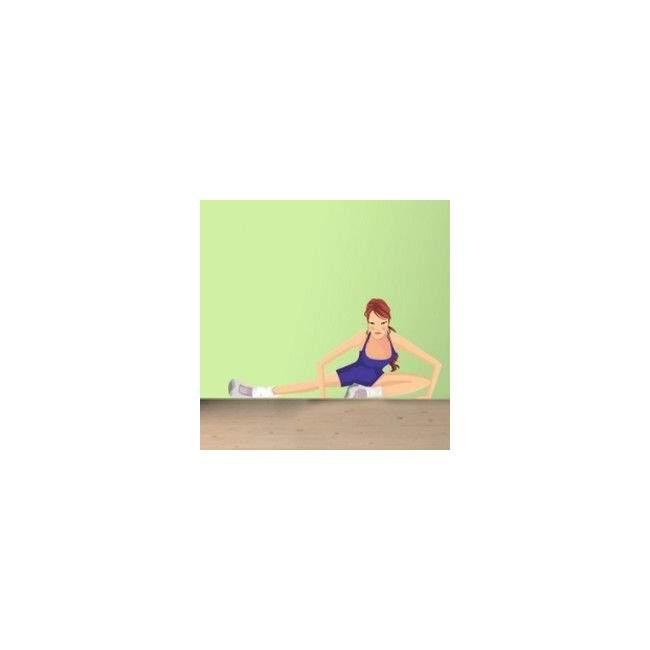 Αυτοκόλλητο τοίχου Γυμναστική, γυναίκα γυμνάζεται 1
